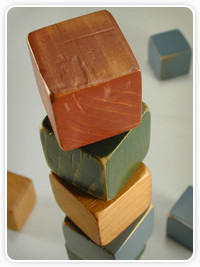 Picture of stacked wooden blocks